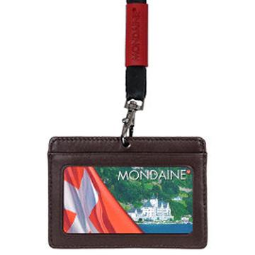 MONDAINE 瑞士國鐵橫式牛皮識別證件夾-咖啡