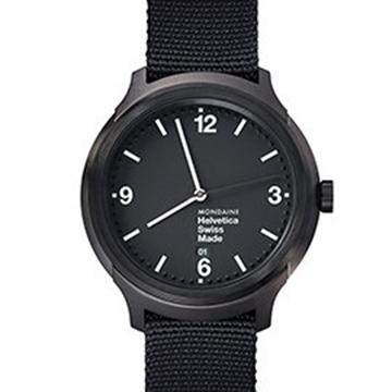 MONDAINE 瑞士國鐵設計系列腕錶 - IP黑/43mm