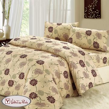 【Valentino Rudy】淡雅花香四件床包被套組-加大
