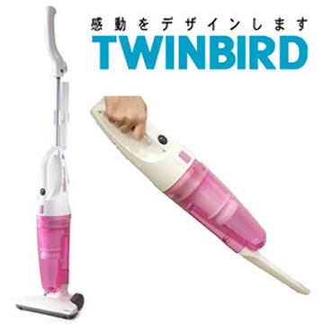 日本《 TWINBIRD 》直立/手持 兩用 吸塵器(TC-5121TWP)-粉色