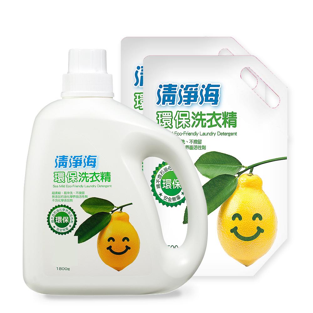 清淨海檸檬洗衣精1800ml*1+1500ml*2