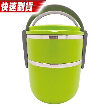 House cook韓式雙層隔熱提籃便當盒