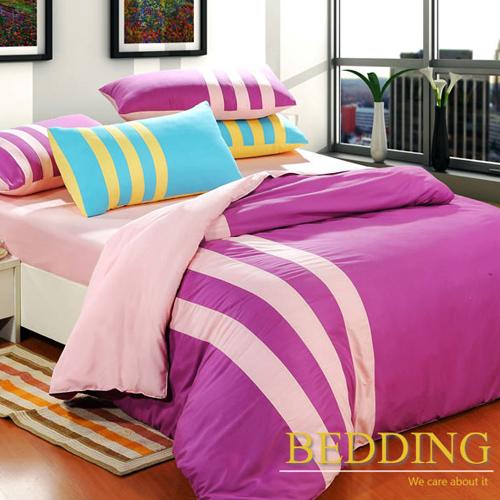 BEDDING 莓果之吻運動風活性磨毛雙人加大四件式床包被套組