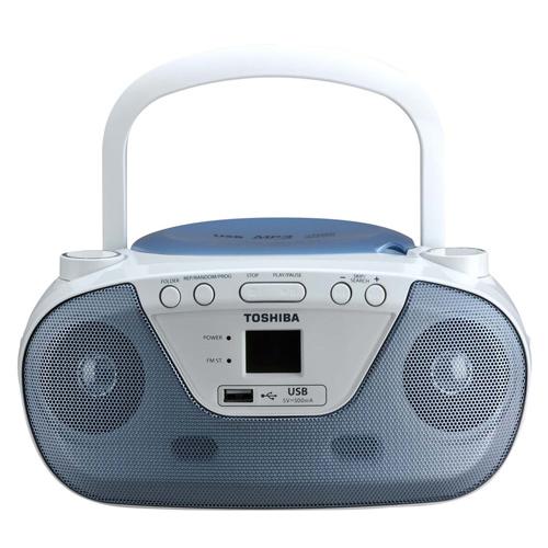 【TOSHIBA】 藍色手提式CD音響 TY-CRU8TW(L)