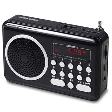 旺德 USB/MP3/FM 隨身音響WS-P006-黑色