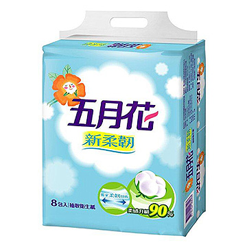五月花柔韌版抽取式衛生紙(1箱)