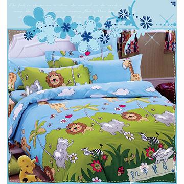【森林王國】雙人 柔絲絨 涼被床包組