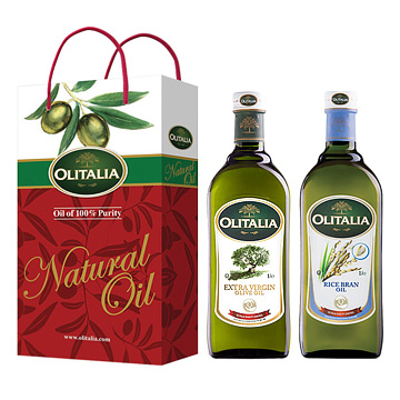 Olitalia奧利塔特級冷壓橄欖油+玄米油禮盒組   (1000mlx2瓶)
