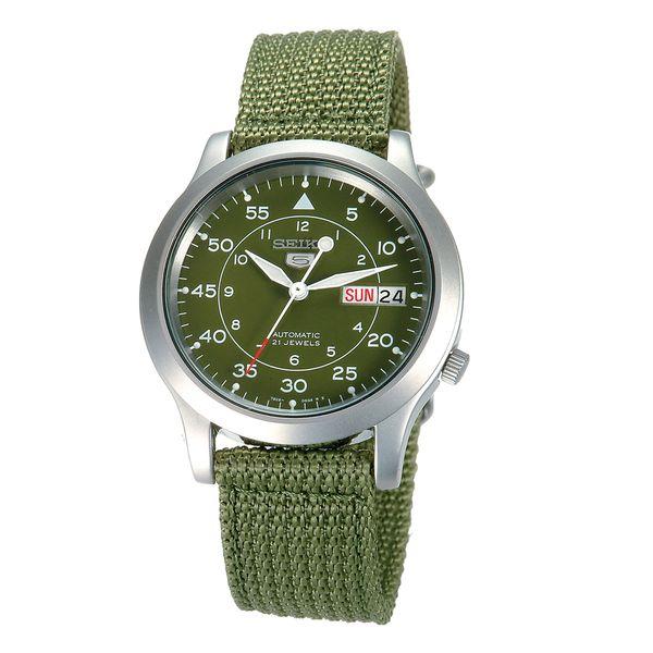 SEIKO 野戰 5號帆布機械錶(綠色)SNK805