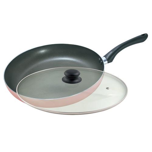 Triarrow第二代奈米格紋不沾平底鍋(贈專用鍋鏟)HA-232FPG