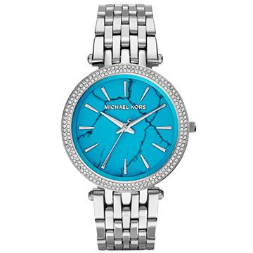 Michael Kors綠松石晶鑽腕錶
