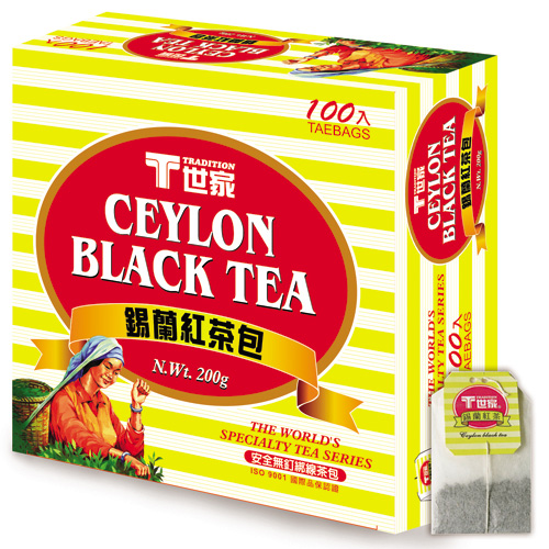 T世家-錫蘭紅茶包--簡易包*3盒