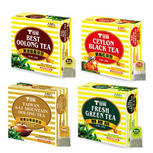 T世家-綜合簡易包(錫蘭紅茶+凍頂烏龍+鮮綠茶+阿里山茶)*4盒
