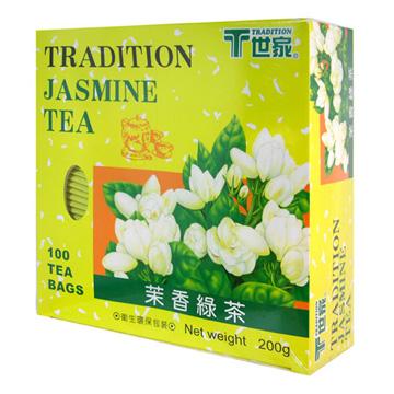 T世家-茉香綠茶包-環保包x3盒