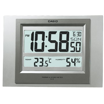 CASIO‧數位溫度顯示型鬧鐘(掛/座鐘兩用) ID-16S-8