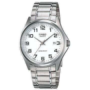 CASIO . 簡潔大方指針紳士錶-白MTP-1183A-7B
