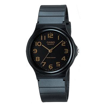 CASIO卡西歐-超輕薄指針錶(膠帶)-MQ-24-1B2