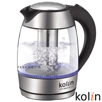 歌林 1.8L泡茶玻璃快煮壺KPK-MNR1831G
