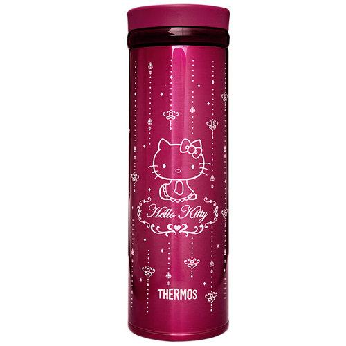 THERMOS膳魔師 Hello Kitty不鏽鋼保溫杯500ml-酒紅色【JNO-500KT】