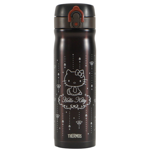 THERMOS膳魔師Hello Kitty不鏽鋼保溫瓶500ml-金屬咖啡【JMY-501KT】