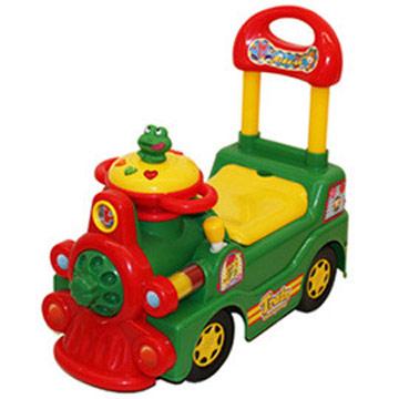 寶貝樂 可愛小青蛙火車學步車(綠)