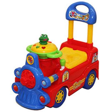 寶貝樂 可愛小青蛙火車學步車(紅)