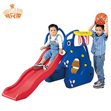 寶貝樂 寶貝象歡樂溜滑梯組~附籃框籃球