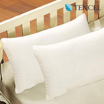 床之戀 台灣製高級透氣針織TENCEL天絲緹花表布柔舒枕-2入