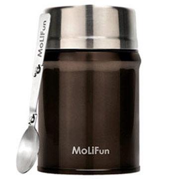 MoliFun魔力坊 316不鏽鋼輕量真空保鮮保溫悶燒罐/悶燒杯800ml-摩卡咖