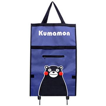 Kumamon酷MA萌 輕便型折疊收納二輪購物車/菜藍車