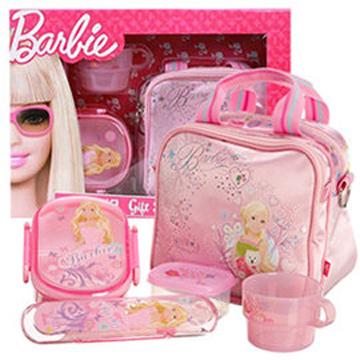 芭比Barbie 芭比餐具組禮盒(粉紅)