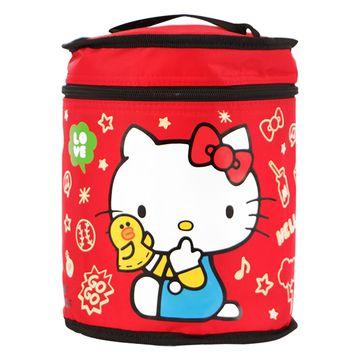 Hello Kitty+LINE莎莉圓形保溫便當袋