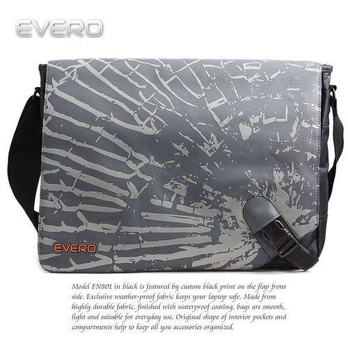【EVERO】都會新潮灰15吋電腦包/公事包/側背包