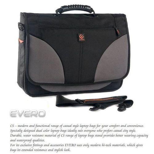 【EVERO】 都會典雅尼龍15吋電腦包/公事包/側背包