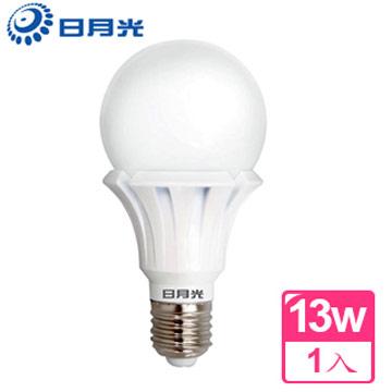 【日月光】13W CNS認證 節能高效LED燈泡(黃光-1入)