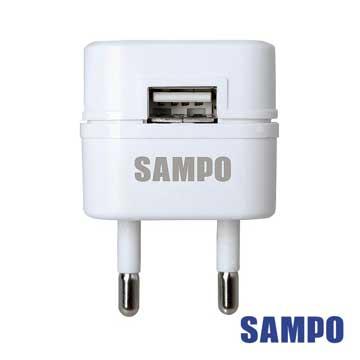 SAMPO 聲寶 USB萬國充電器轉接頭2.1A(EP-UC0BU2-白色1入)