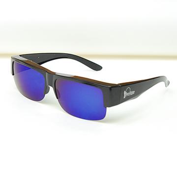 【Pro-Fisher 漁達人】一級光學抗UV400防眩光寶麗來偏光太陽套鏡-PF168A-酷炫藍