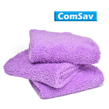 (ComSav)超輕盈柔軟舒適雙面長毛毛巾 3入 - 紫色