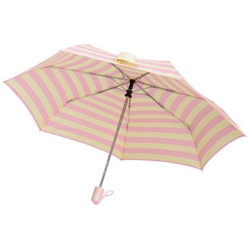 【SC life】海軍條紋自動開收傘-粉紅色