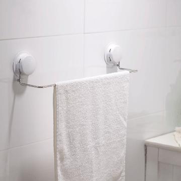 【三合一】高質感吸盤毛巾浴巾架