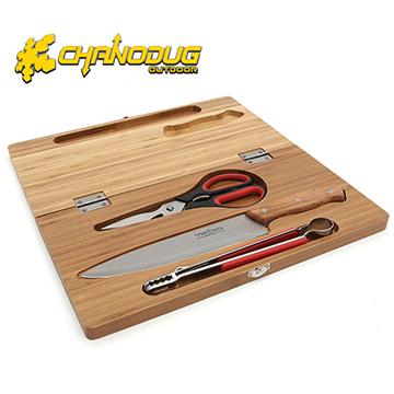 【CHANODUG】露營料理砧板刀具四件組