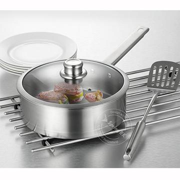 【品愛生活】SKIEN系列304不鏽鋼平底鍋24cm