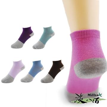 【炭八佰】竹炭五彩襪-桃紅