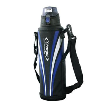 [日本PEARL]運動彈蓋1500ml保冷保溫瓶(附高質感保護提袋)-藍