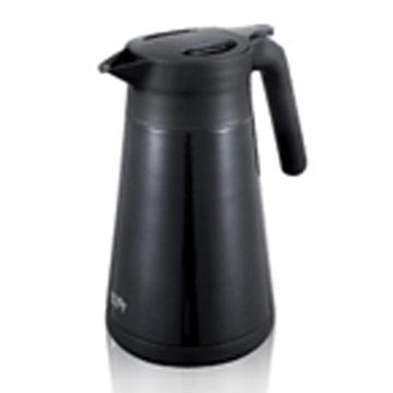 【日本PEARL】1.2L易開式不鏽鋼保溫壺-黑色