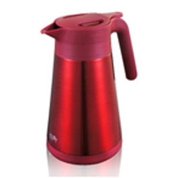 【日本PEARL】1.2L易開式不鏽鋼保溫壺-紅色