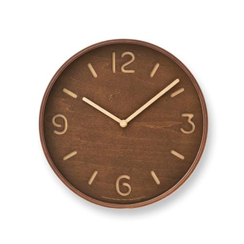 原木數字鏤空鐘-深褐色LC10-26 BW