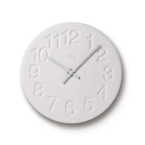 珪藻土時鐘-白色LC11-08 WH