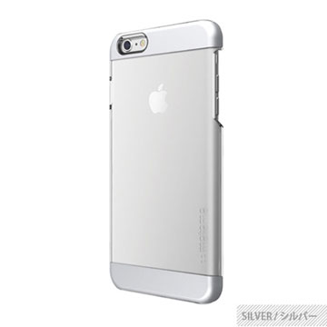 【motomo】iPhone6 Plus 5.5吋 INO Clear Wing透明感保護殼-銀色