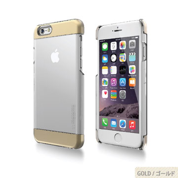 【motomo】iPhone6 Plus 5.5吋 INO Clear Wing透明感保護殼-金色